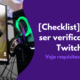 Como ser verificado na Twitch